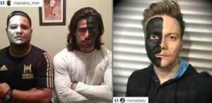 Blackface - Cantores Michel Teló e Mariano postaram fotos usando blackface para campanha contra racismo
