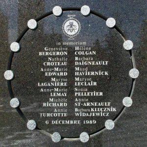 Lei Armamentista - Homenagem feito às vítimas do ataque a tiros na Escola Politécnica de Montreal