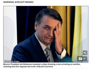 CARNAVAL - Daily Mail publicou matéria sobre Bolsonaro e vídeo polêmico