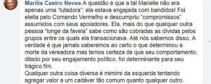 Marielle Franco - Marília de Castro Neves espalha notícias falsas a respeito de Marielle